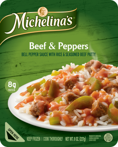 Michelina's Beef & Peppers Perspective: front
