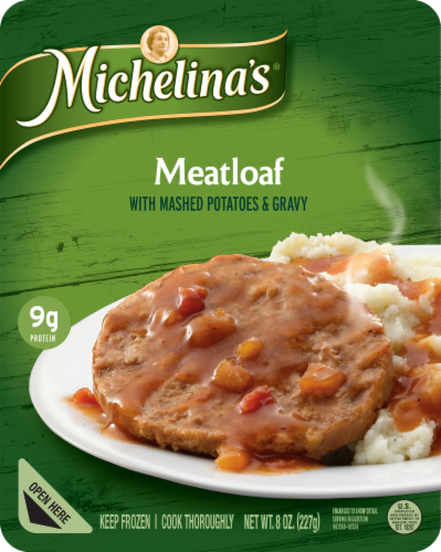 Michelina's Meatloaf with Mashed Potatoes & Gravy Perspective: front