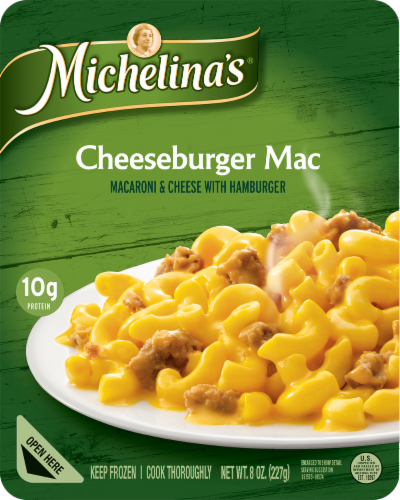 Michelina's Cheeseburger Macaroni & Cheese Frozen Meal Perspective: front