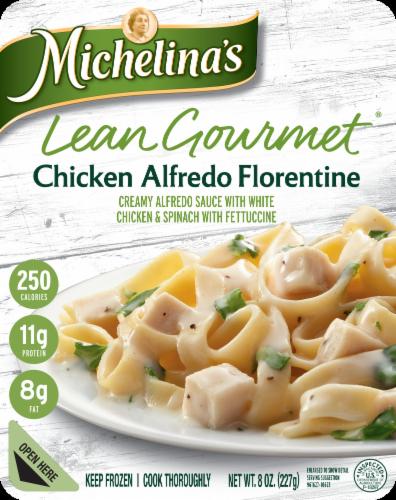 Michelina's Lean Gourmet Chicken Alfredo Florentine Perspective: front