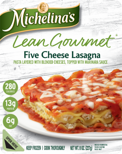 Michelina's Lean Gourmet Five Cheese Lasagna Perspective: front