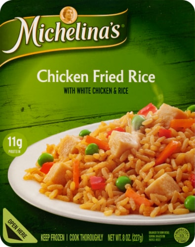 Michelina's Chicken Fried Rice Perspective: front