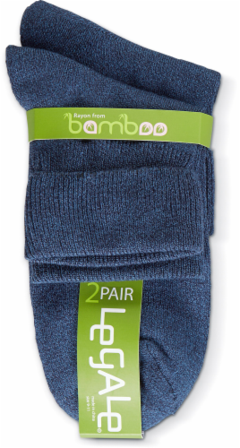 Legale Women's Turncuff Socks - 2 Pack - Denim Perspective: front
