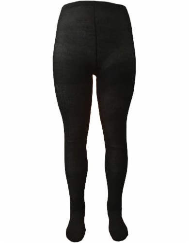 Legale Footed Sweater Cable Tights - Black Perspective: front