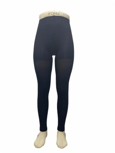 Legale Leg Shaping Footless Tights - Black Perspective: front