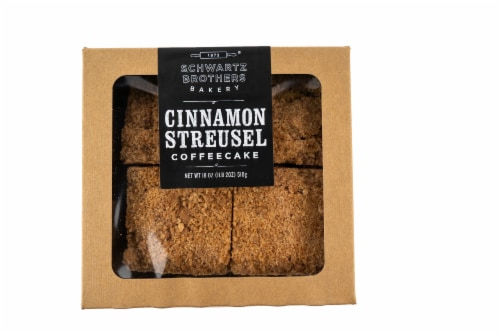 Schwartz Brothers Bakery Cinnamon Streusel Coffee Cakes Perspective: front