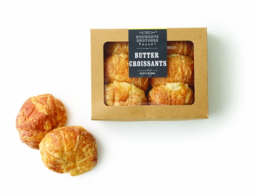 Schwartz Brothers Bakery Butter Croissants 6 Count Perspective: front