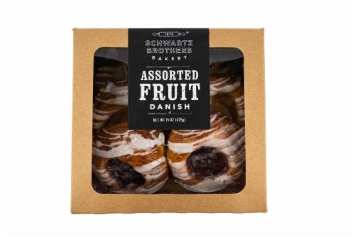 Schwartz Brothers Bakery Assorted Fruit Danishes Perspective: front