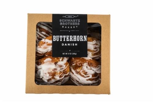 Schwartz Brothers Bakery Butterhorn Danish 6 Count Perspective: front