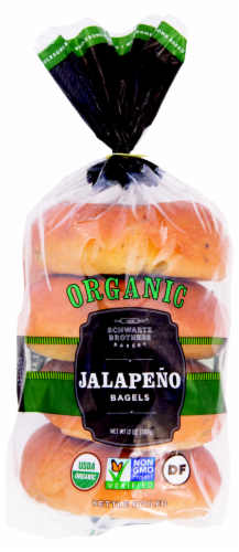 Schwartz Brothers Bakery Organic Jalapeno Bagels Perspective: front