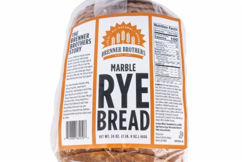 Brenner Brothers Marble Rye Bread Perspective: front