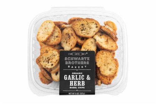 Schwartz Brothers Bakery Organic Garlic & Herb Bagel Chips Perspective: front