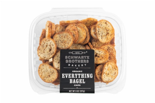 Schwartz Brothers Bakery Organic Everything Bagel Chips Perspective: front