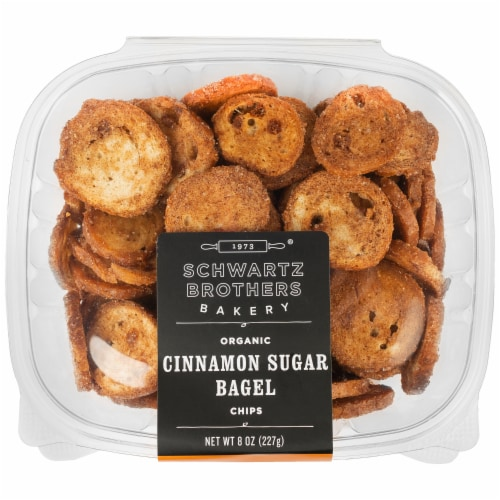 Schwartz Brothers Bakery Organic Cinnamon Sugar Bagel Chips Perspective: front