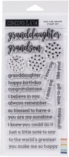 Concord & 9th Clear Stamps 4 X8 -Kids Are Grand Perspective: front