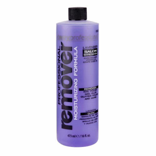Onyx Professional Lavender Scented Moisturizing Formula Nail Polish Remover Perspective: front