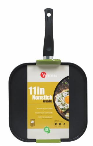 Victoria Soft Touch Handle Nonstick Square Griddle Perspective: front