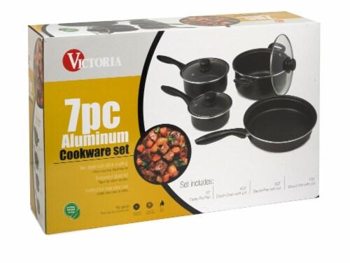 Victoria Basics Nonstick Cookware Set 7 Piece Perspective: front
