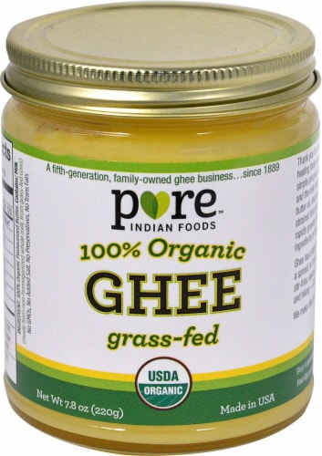 Pure Indian Foods Organic Grass-Fed Ghee Perspective: front