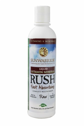 Sunwarrior  Liquid Vitamin Mineral Rush Perspective: front