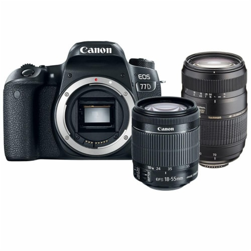 Canon Eos 77d 24.2mp Dslr Camera With 18-55mm Is Stm Lens And 70-300mm Lens Perspective: front