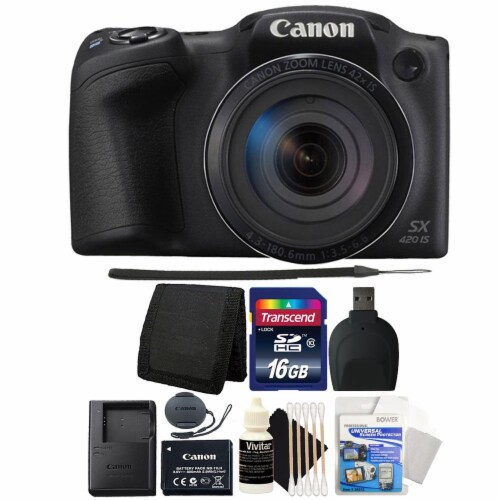 Canon Powershot Sx420 Is 20mp Digital Camera With Accessory Bundle Perspective: front