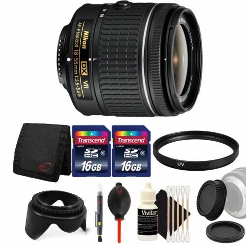 Nikon Af-p Dx Nikkor 18-55mm Lens For Nikon Dslr Cameras W/ Accessory Bundle Perspective: front
