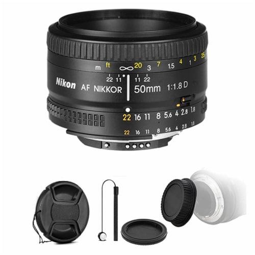 Nikon Af Nikkor 50mm F/1.8d Lens For Nikon Dslr Cameras And Accessories Perspective: front