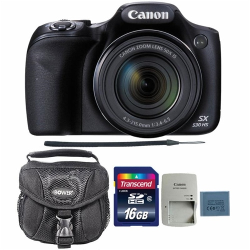 Canon Powershot Sx530 Hs 16mp Digital Camera With 16gb Memory Card And Camera Case Perspective: front