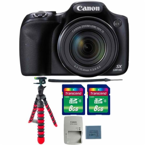 Canon Powershot Sx530 Hs 16mp Digital Camera With Two 8gb Memory Card And Flexible Tripod Perspective: front