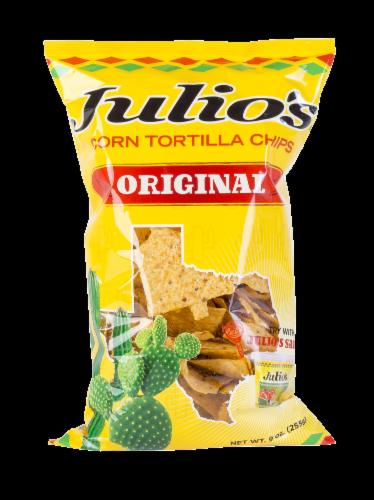 Julio's Original Corn Tortilla Chips Perspective: front