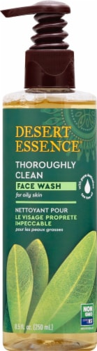 Desert Essence Organics Thoroughly Clean Face Wash Perspective: front