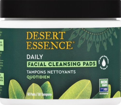 Desert Essence Tea Tree Oil Facial Cleansing Pads Perspective: front