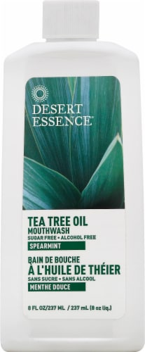 Desert Essence Tea Tree Oil Mouthwash Perspective: front