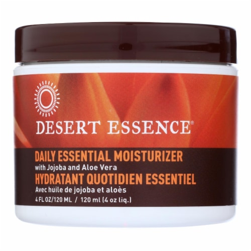 Desert Essence Jojoba and Aloe Vera Daily Essential Moisturizer Perspective: front