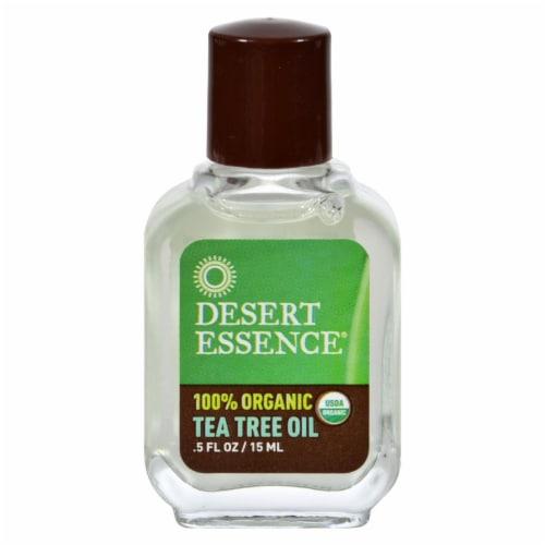 Desert Essence Organic Tea Tree Oil Perspective: front