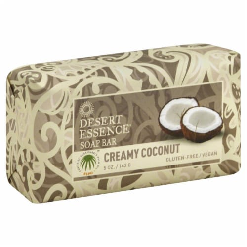 Desert Essence Creamy Coconut Soap Perspective: front