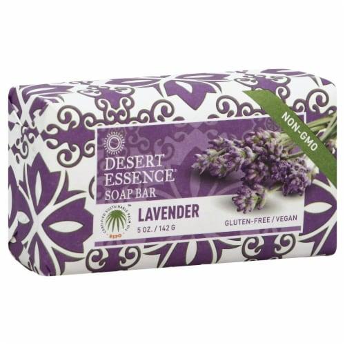 Desert Essence Lavender Bar Soap Perspective: front