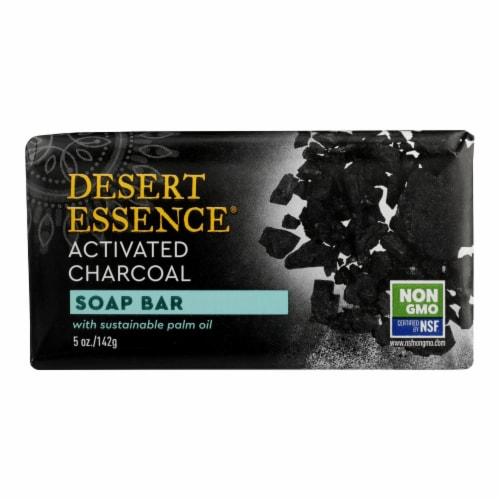 Desert Essence - Soap Bar Activtd Charcoal - 1 Each - 5 OZ Perspective: front
