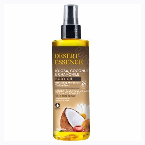 Desert Essence Jojoba Coconut & Chamomile Body Oil Perspective: front