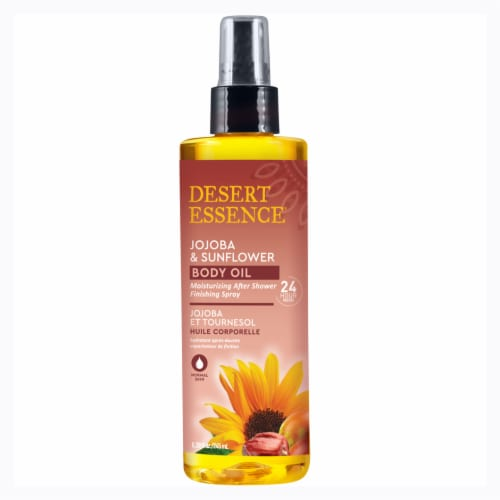 Desert Essence Jojoba & Sunflower Body Oil Perspective: front