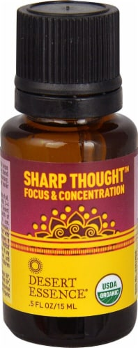 Desert Essence  Sharp Thought™ Organic Essential Oil Perspective: front