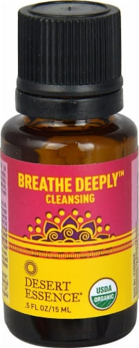 Desert Essence  Breathe Deeply™ Cleansing Organic Essential Oil Perspective: front