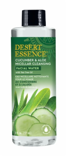 Desert Essence Cucumber & Aloe Micellar Cleansing Facial Water Perspective: front