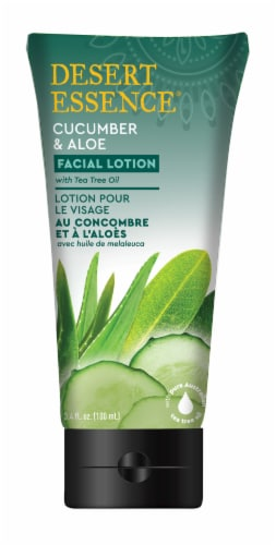Desert Essence Cucumber & Aloe Facial Lotion Perspective: front