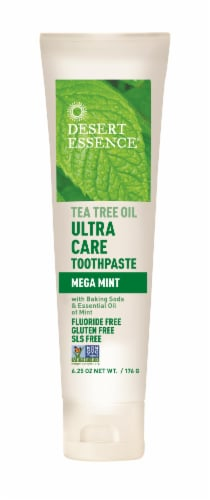 Desert Essence Ultra Care Toothpaste Tea Tree Oil Perspective: front