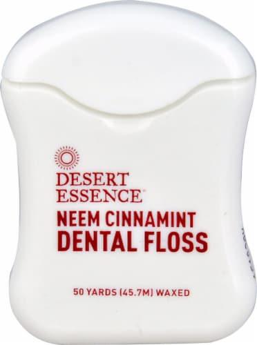Desert Essence  Neem Cinnamint Dental Floss Waxed Perspective: front
