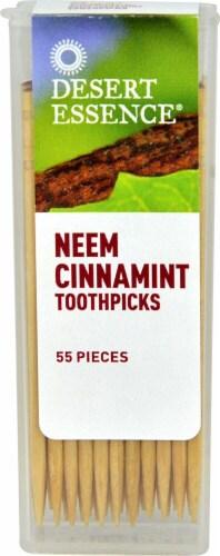 Desert Essence  Neem Cinnamint Toothpicks Perspective: front