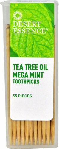 Desert Essence  Tea Tree Oil Mega Mint Toothpicks Perspective: front