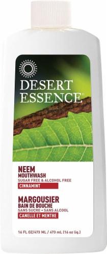 Desert Essence  Natural Neem Mouthwash   Cinnamint Perspective: front